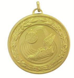 Gold Laurel Economy Athletics Medal (size: 50mm) - 9555E