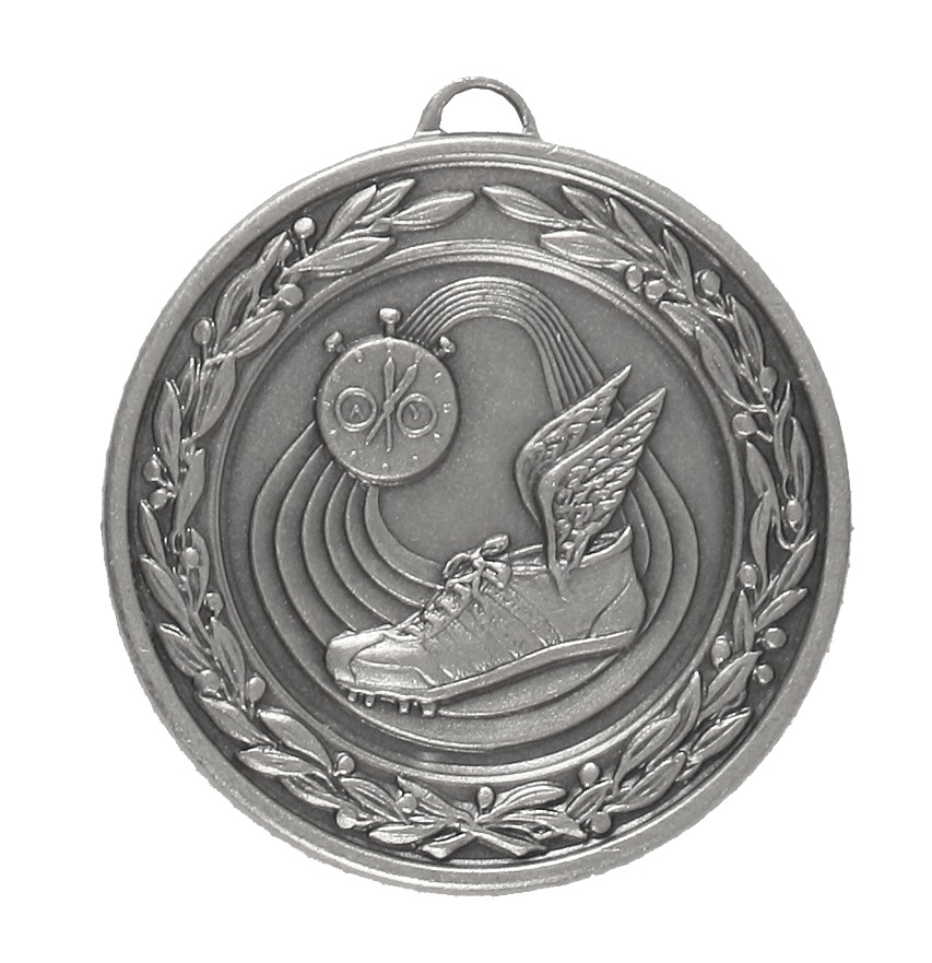 Silver Laurel Economy Athletics Medal (size: 50mm) - 9555E