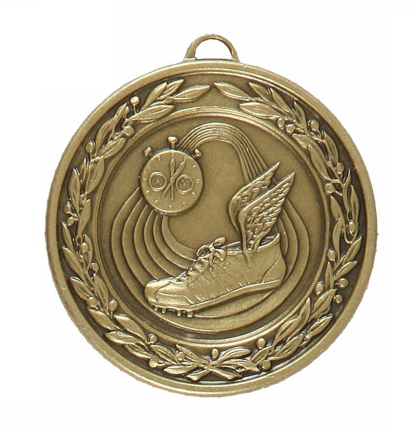 Bronze Laurel Economy Athletics Medal (size: 50mm) - 9555E