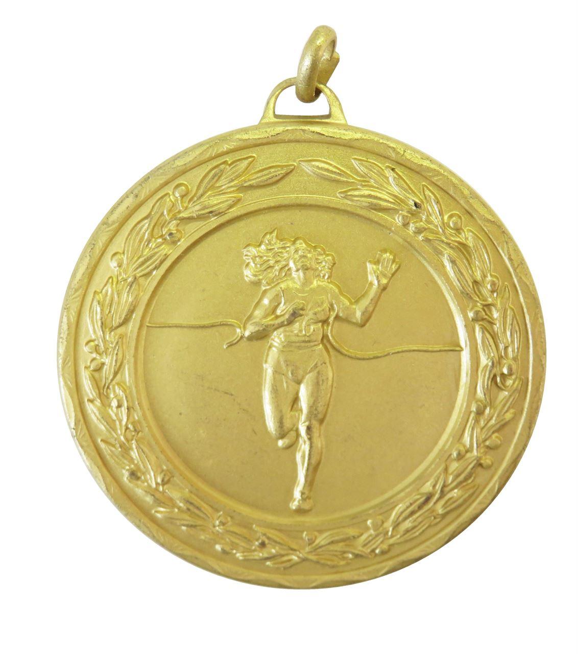 Gold Laurel Economy Female Runner Winner Medal (size: 50mm) - 4125E