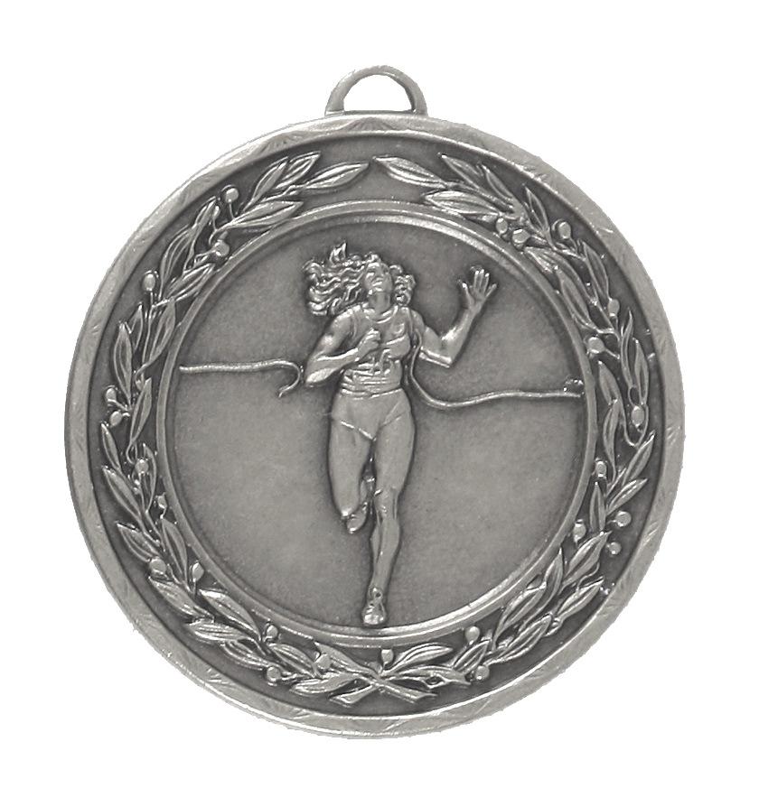 Silver Laurel Economy Female Runner Winner Medal (size: 50mm) - 4125E
