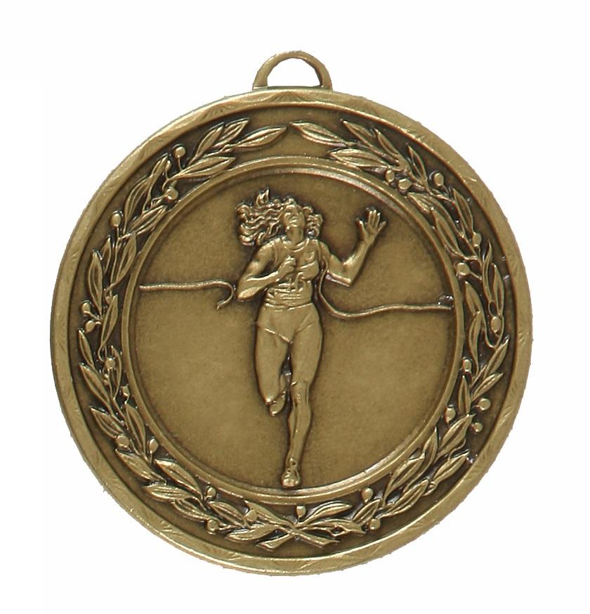 Bronze Laurel Economy Female Runner Winner Medal (size: 50mm) - 4125E