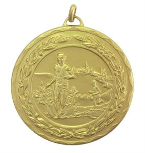 Gold Laurel Economy Cross Country Medal (size: 50mm) - 4110E