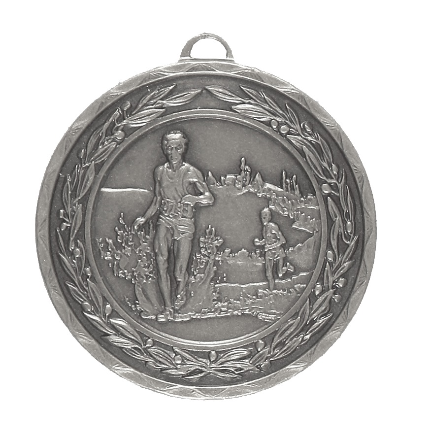 Silver Laurel Economy Cross Country Medal (size: 50mm) - 4110E
