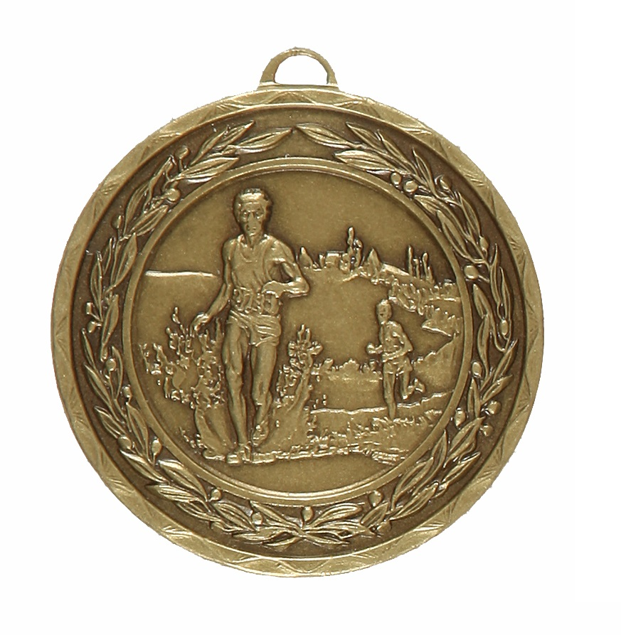 Bronze Laurel Economy Cross Country Medal (size: 50mm) - 4110E