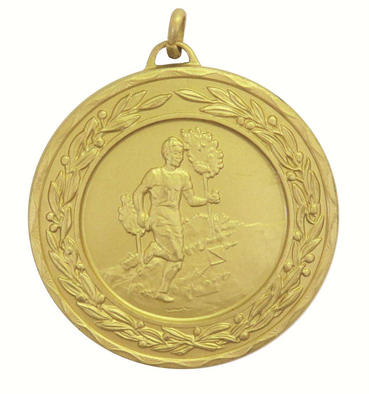 Gold Laurel Economy Cross Country Runner Medal (size: 50mm) - 4325E