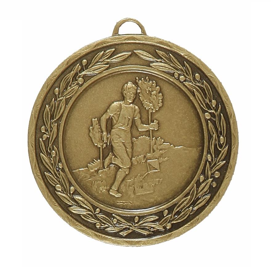 Bronze Laurel Economy Cross Country Runner Medal (size: 50mm) - 4325E