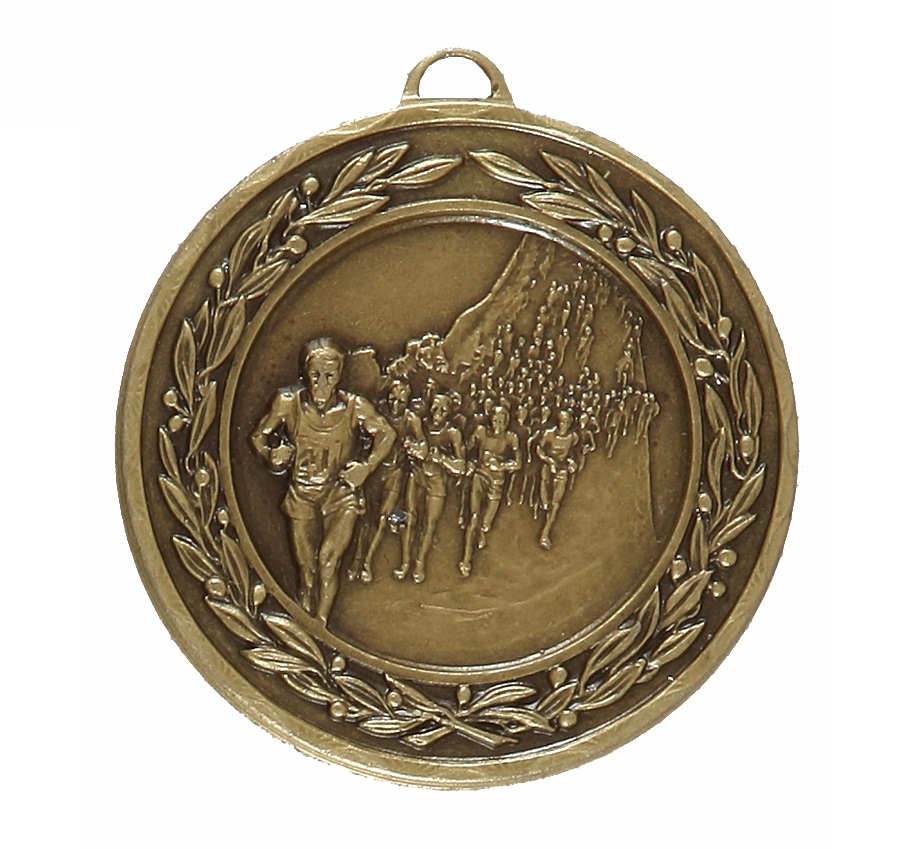 Bronze Laurel Economy Marathon Medal (size: 50mm) - 4115E