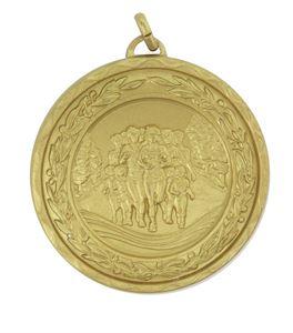 Gold Laurel Economy Fun Run Medal (size: 50mm) - 4120E