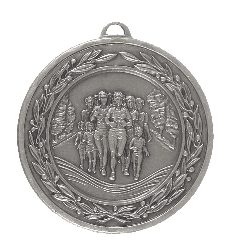 Silver Laurel Economy Fun Run Medal (size: 50mm) - 4120E