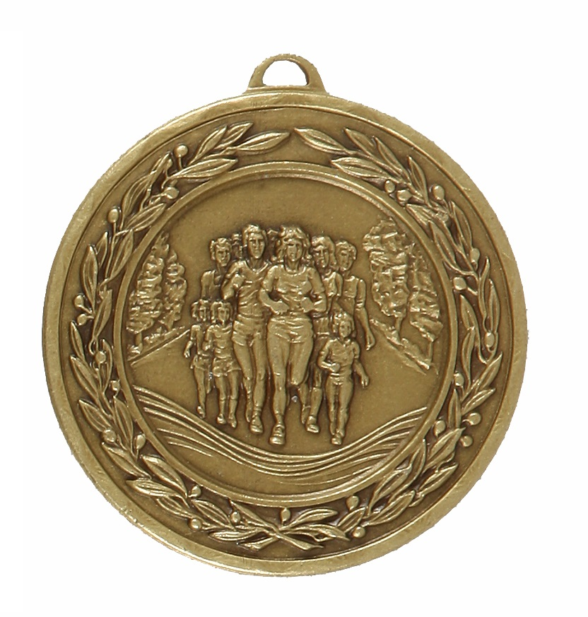 Bronze Laurel Economy Fun Run Medal (size: 50mm) - 4120E