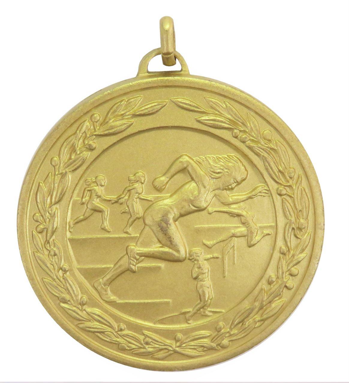 Gold Laurel Economy Female Track & Field Medal (size: 50mm) - 9683E