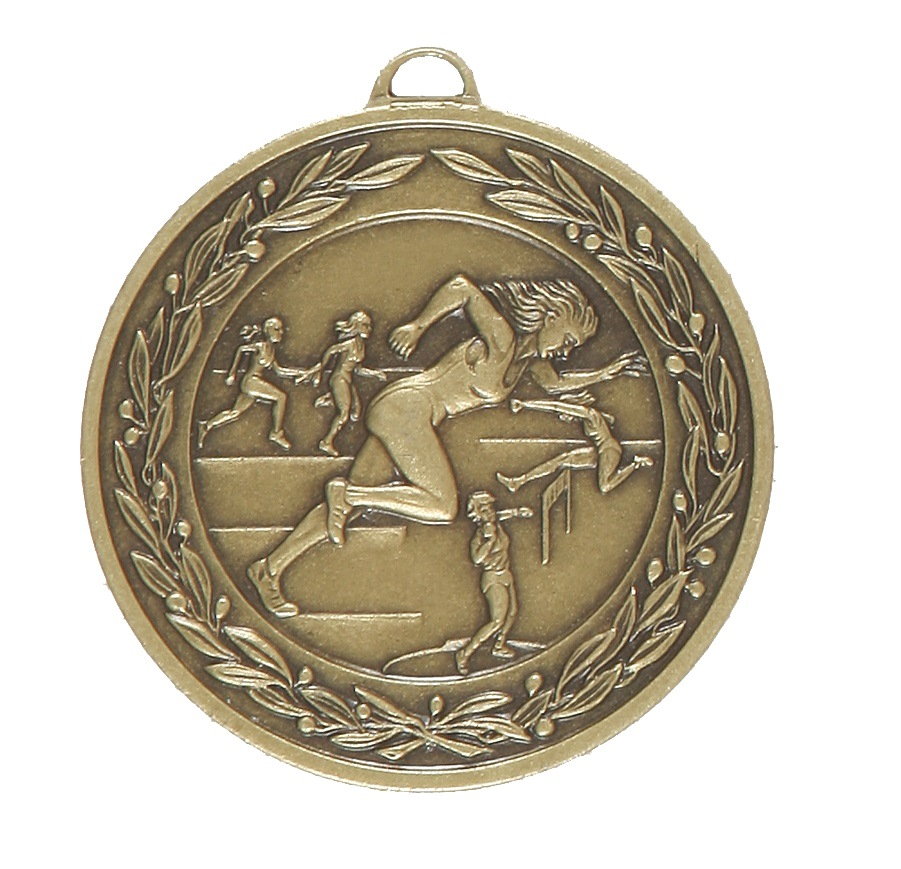 Bronze Laurel Economy Female Track & Field Medal (size: 50mm) - 9683E