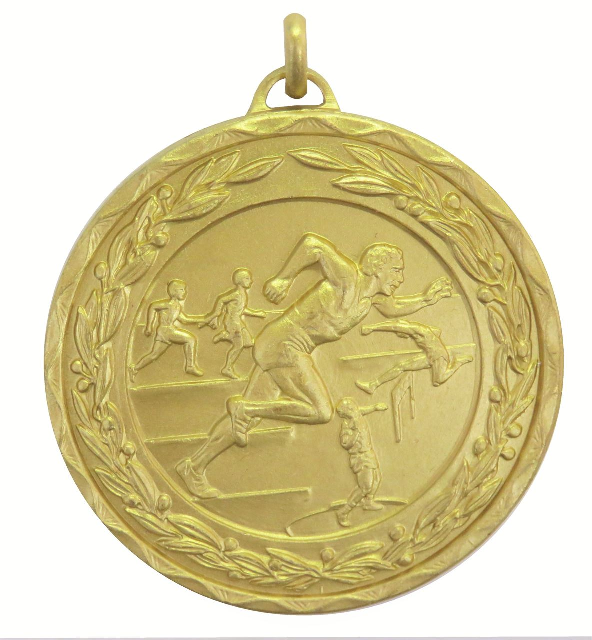 Gold Laurel Economy Male Track & Field Medal (size: 50mm) - 9672E