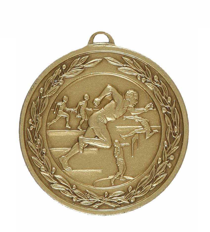 Bronze Laurel Economy Male Track & Field Medal (size: 50mm) - 9672E