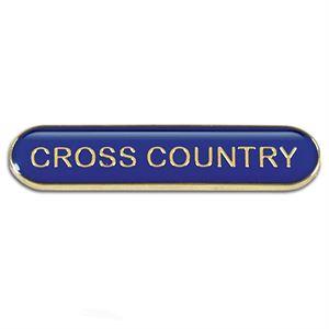 Cross Country Metal School Bar Badge - SB053B