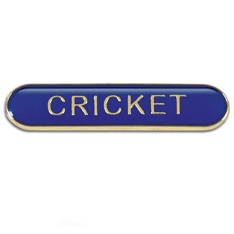 Cricket Metal School Bar Badge - SB055B