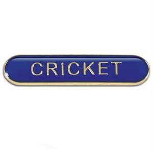 Cricket Metal School Bar Badge