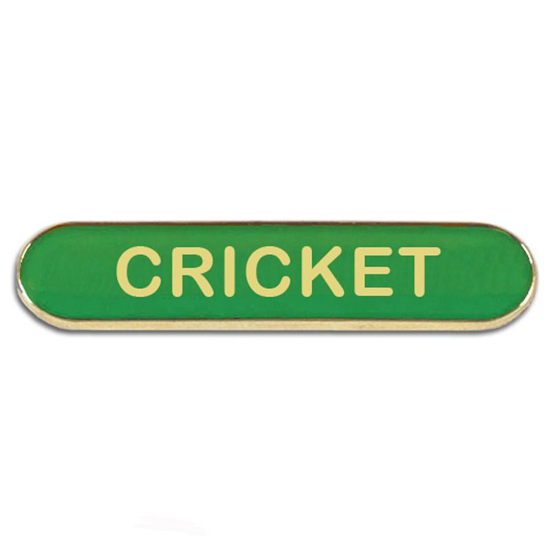 Cricket Metal School Bar Badge - SB055G