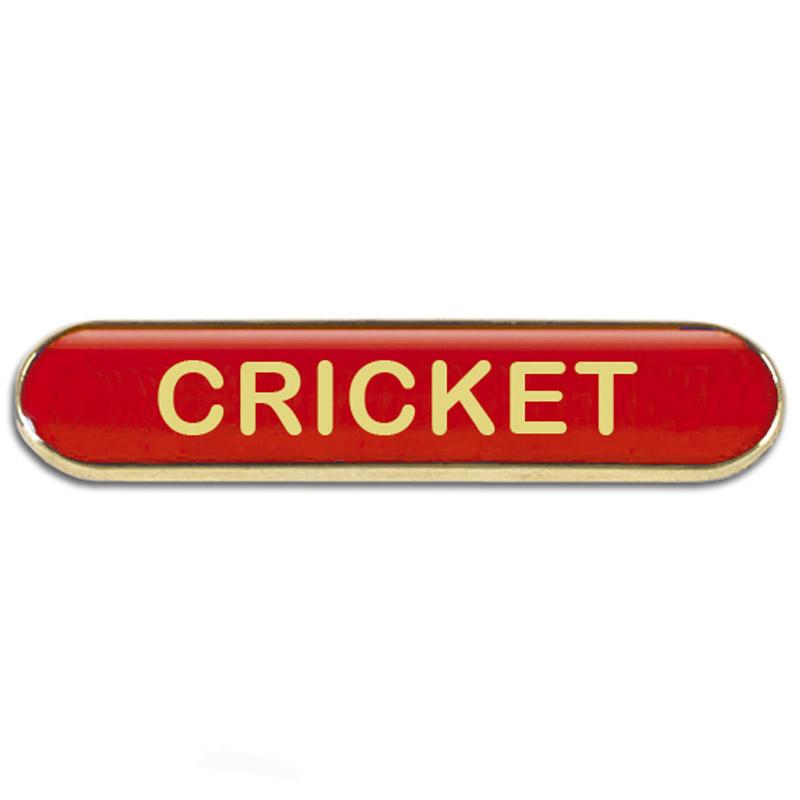 Cricket Metal School Bar Badge - SB055R