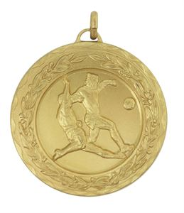 Gold Laurel Economy Football Tackle Medal (size: 50mm) - 4030E
