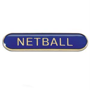 Netball Metal School Bar Badge - SB054B