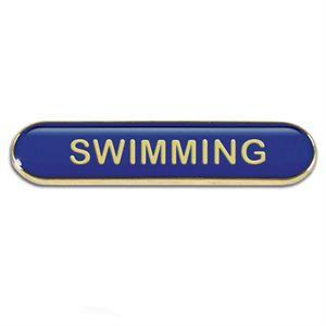 Swimming Metal School Bar Badge - SB050B