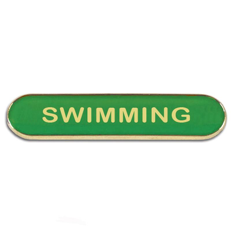 Swimming Metal School Bar Badge - SB050G