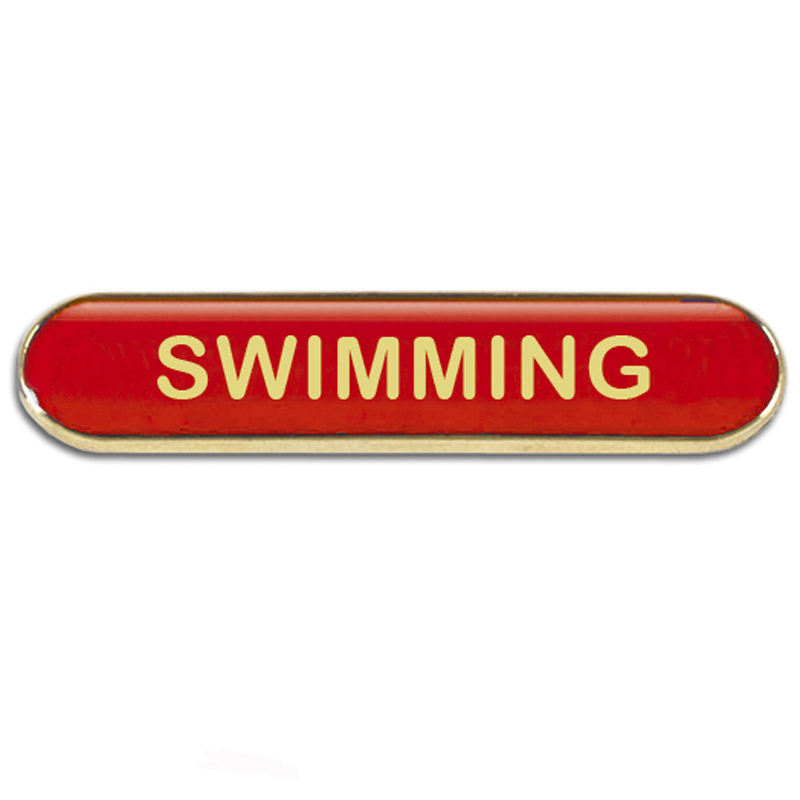 Swimming Metal School Bar Badge - SB050R