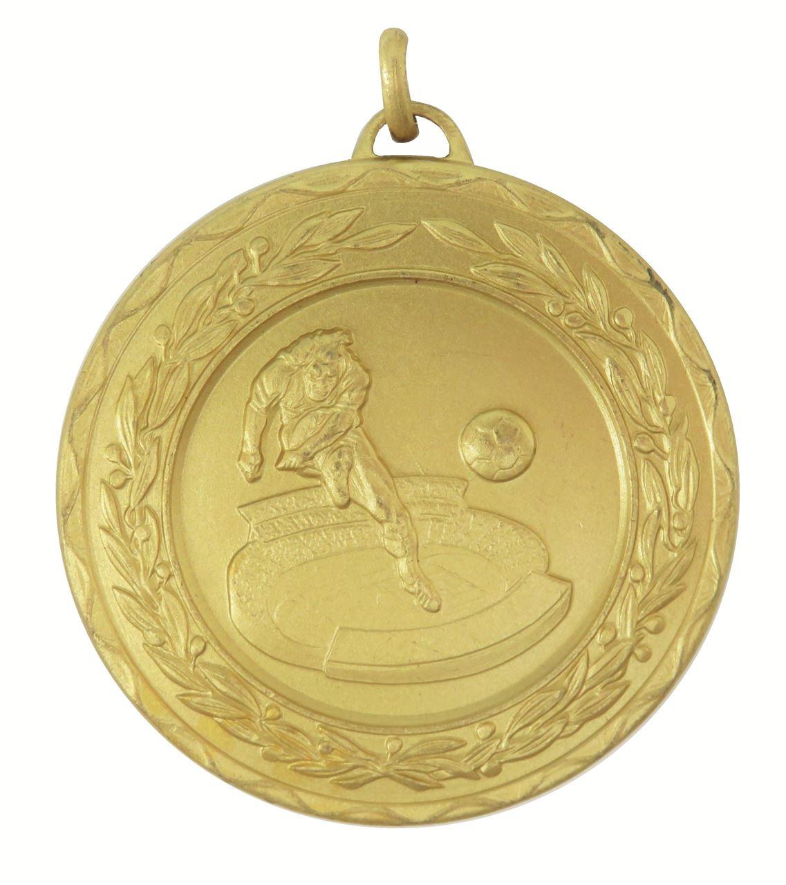 Gold Laurel Economy Football Stadium Medal (size: 50mm) - 4035E