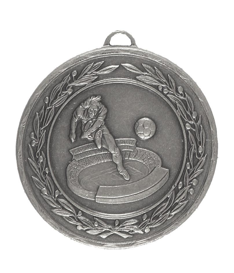 Silver Laurel Economy Football Stadium Medal (size: 50mm) - 4035E