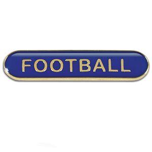 Football Metal School Bar Badge - SB051B
