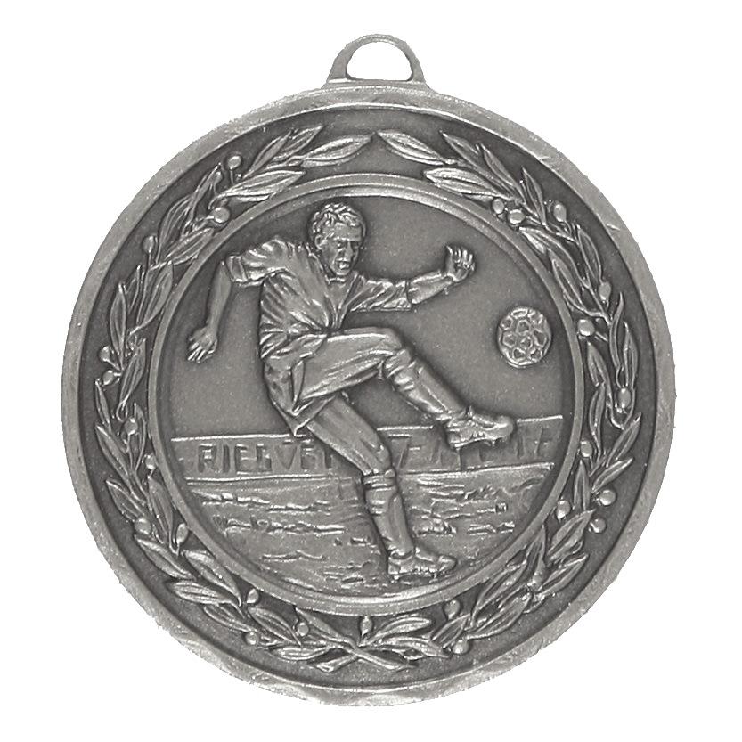 Silver Laurel Economy Footballer Medal (size: 50mm) - 4040E