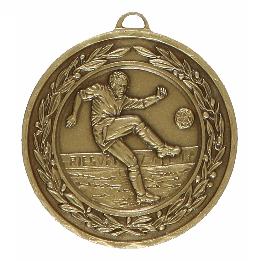 Bronze Laurel Economy Footballer Medal (size: 50mm) - 4040E