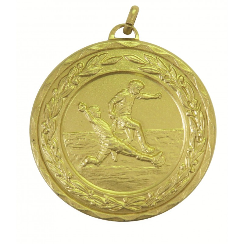 Gold Laurel Economy Football Medal (size: 50mm) - 4025E