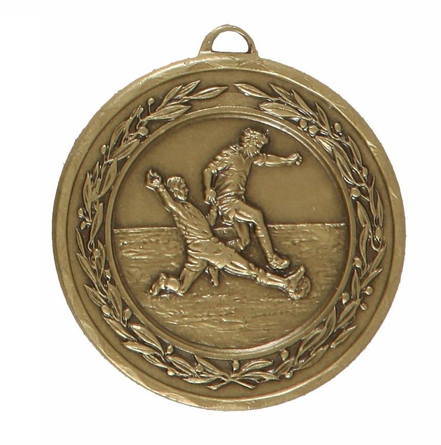 Bronze Laurel Economy Football Medal (size: 50mm) - 4025E