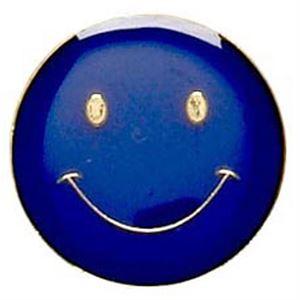 Happy Face Metal School Button Badge