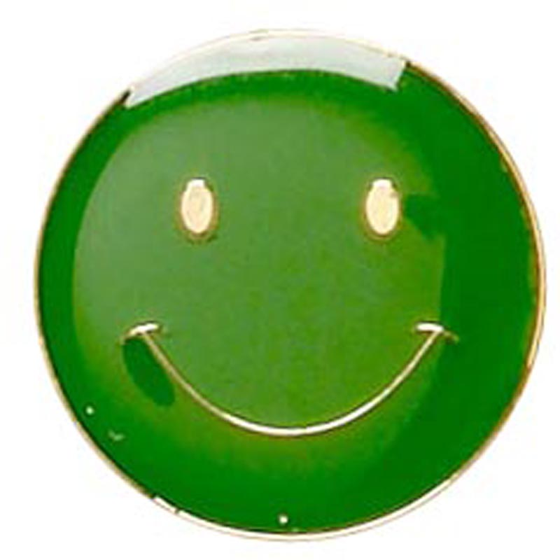 Smiley Face Metal School Button Badge - SB001G