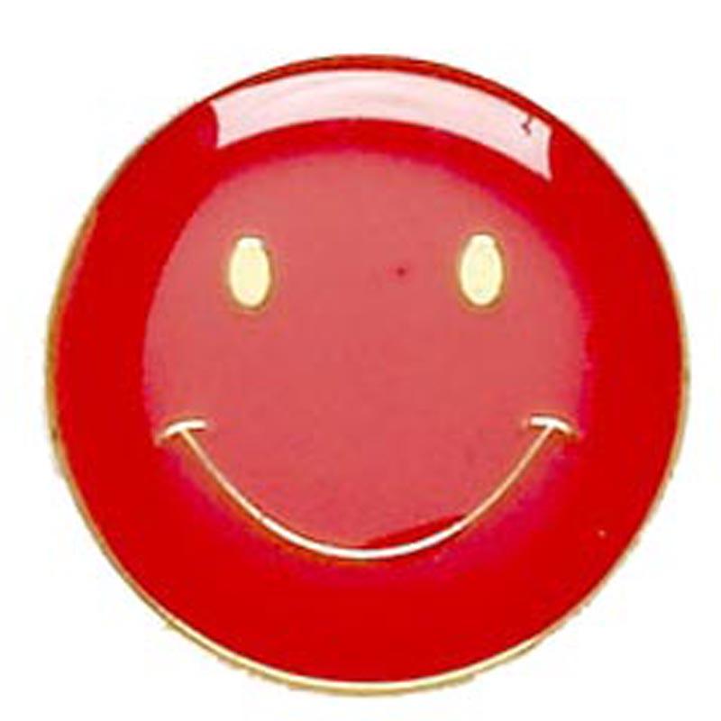 Smiley Face Metal School Button Badge - SB001R