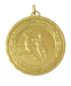 Laurel Economy Woman's Football Medal