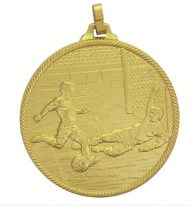 Gold Economy Football Goal Medal (size: 42mm and 50mm) - 4295FE