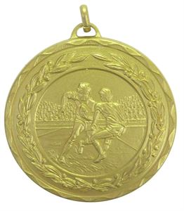 Gold Laurel Economy Rugby Medal (size: 50mm) - 4281E