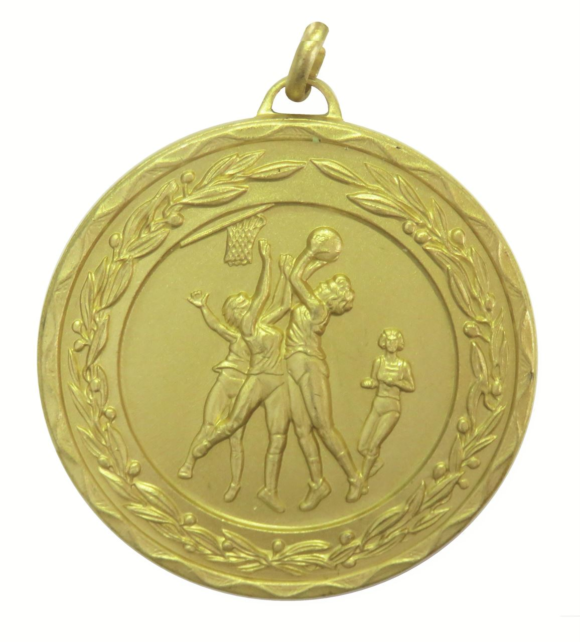 Gold Laurel Economy Netball Medal (size: 50mm) - 9769E
