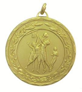 Gold Laurel Economy Netball Medal (size: 50mm) - 9769E