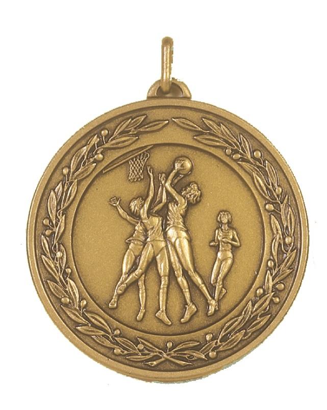 Bronze Laurel Economy Netball Medal (size: 50mm) - 9769E