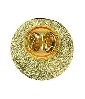 Smiley Face Metal School Button Badge Reverse - SB001