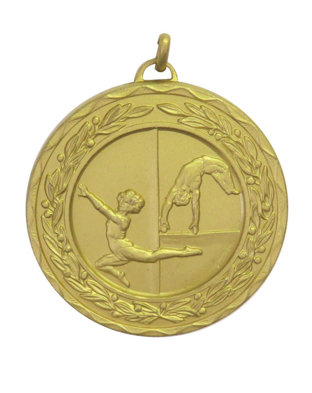 Gold Laurel Economy Gymnastics Medal (size: 50mm) - 4154E