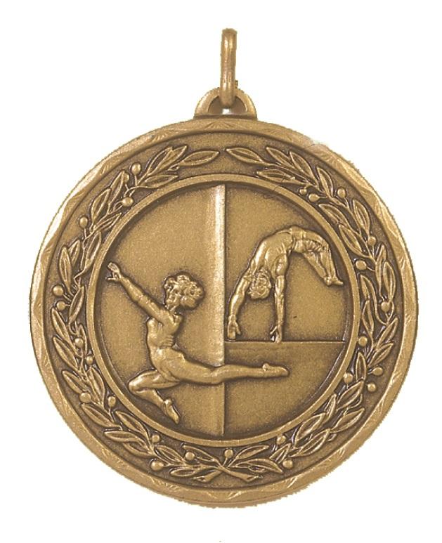 Bronze Laurel Economy Gymnastics Medal (size: 50mm) - 4154E