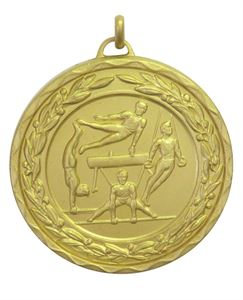 Gold Laurel Economy Male Gymnastics Medal (size: 50mm) - 9804E