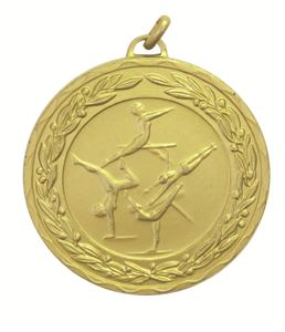 Gold Laurel Economy Female Gymnastics Medal (size: 50mm) - 9792E